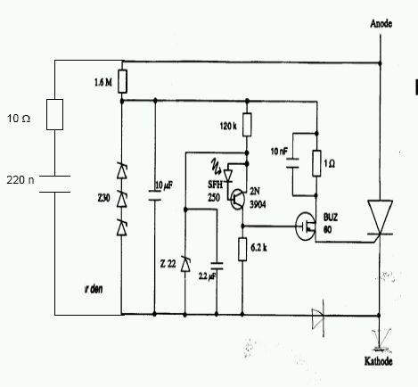 принципиальная электрическая схема управления светодиодами
